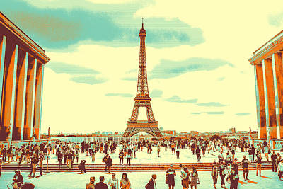 Panoramic Pyrography - The Eiffel Tower by Artistic Panda