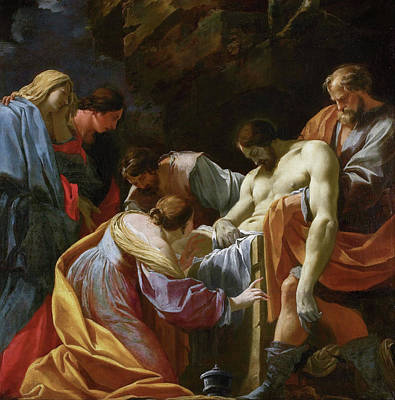 Cross Painting - The Entombment by Simon Vouet