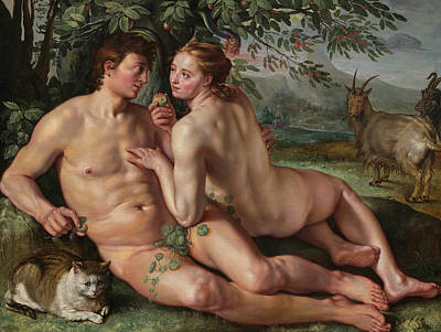Painting - The Fall Of Man by Hendrik Goltzius