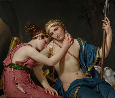 Farewell Painting -  The Farewell Of Telemachus And Eucharis by Jacques Louis David