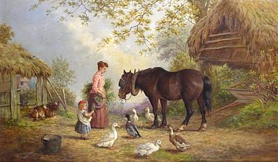 The Farm Art Print by Henry Charles