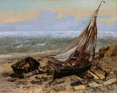 The Fishing Boat Art Print by Gustave Courbet