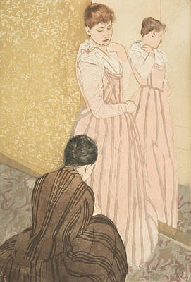 Relief - The Fitting by Mary Cassatt