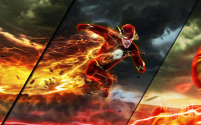 Hero Mixed Media - The Flash Collection by Marvin Blaine