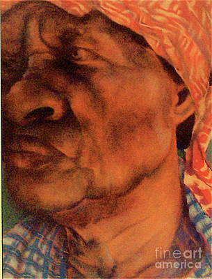 Religious Artist Pastel - The Gaze Of Mother Witt by Curtis James