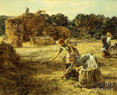 The Gleaners Art Print by Leon Augustin Lhermitte