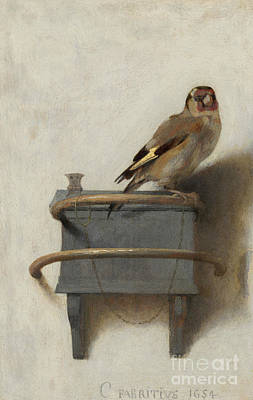 Finch Painting - The Goldfinch by Carel Fabritius
