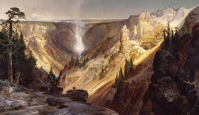 The Grand Canyon Of The Yellowstone Painting - The Grand Canyon Of The Yellowstone by MotionAge Designs