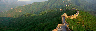 Civil Engineering Photograph - The Great Wall At Mutianyu In Beijing by Panoramic Images