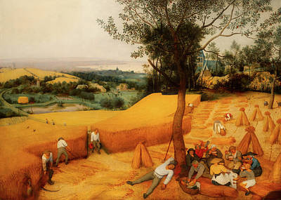 Painting - The Harvesters by Pieter Bruegel The Elder