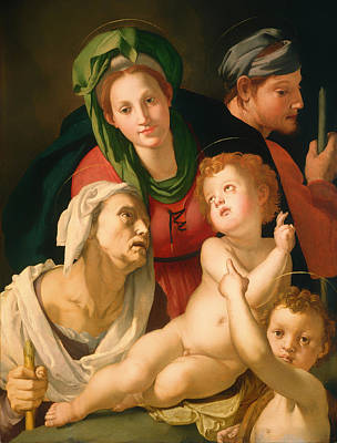 Christian Artwork Painting - The Holy Family by Mountain Dreams