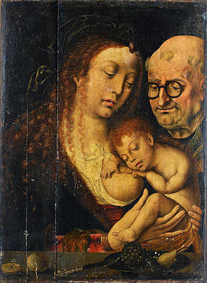 Painting - The Holy Family by Joos van Cleve