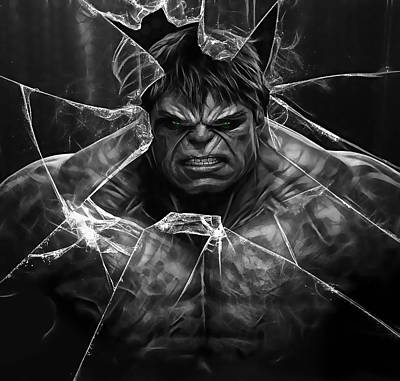 Hulk Mixed Media - The Incredible Hulk Collection by Marvin Blaine