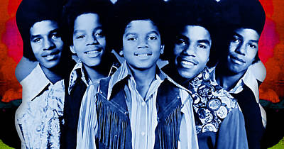 Michael Mixed Media - The Jackson 5 Collection by Marvin Blaine