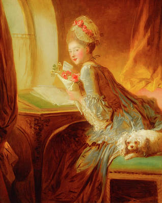 The Love Letter Art Print by Jean Honore Fragonard