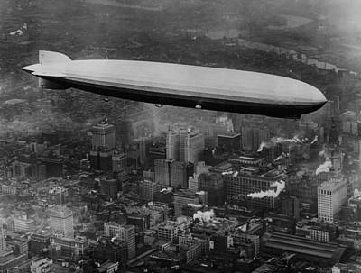 1920s Candid Photograph - The Lz 129 Graf Zeppelin by Everett