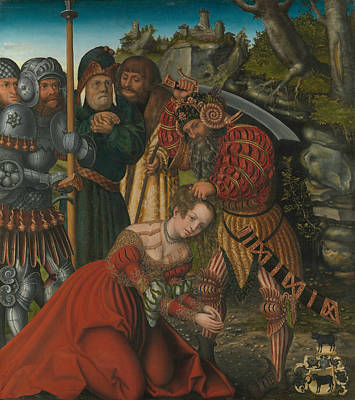 Painting - The Martyrdom Of Saint Barbara by Lucas Cranach the Elder