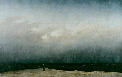 Caspar Painting - The Monk By The Sea by Caspar David Friedrich