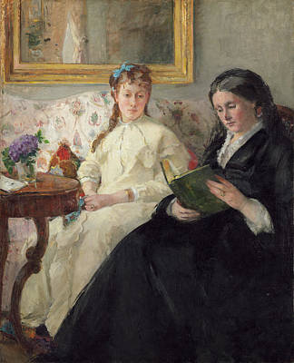 Reading Painting - The Mother And Sister Of The Artist by Berthe Morisot
