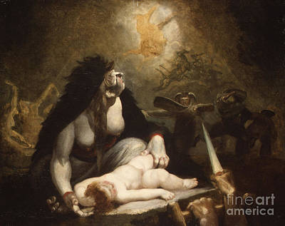 Underworld Human Painting - The Night Hag Visiting Lapland Witches  by Henry Fuseli