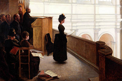 Communion Painting - The Organ Rehearsal by Henry Lerolle