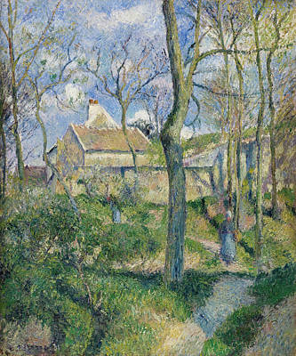 Post-impressionism Painting - The Path To Les Pouilleux, Pontoise by Camille Pissarro
