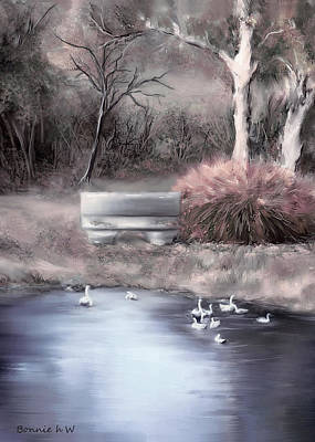 Digital Art - the Pond by Bonnie Willis