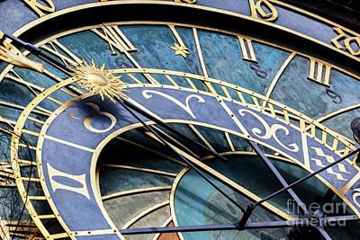 Czech Photograph - The Prague Astronomical Clock, Or Prague Orloj In Prague, Czech Republic by Michal Bednarek
