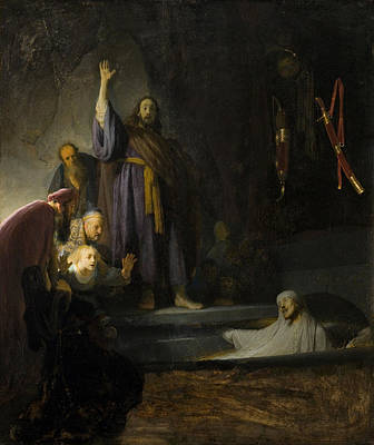 Miracle Painting - The Raising Of Lazarus by Rembrandt van Rijn