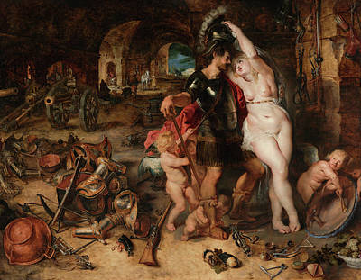Fertility Painting - The Return From War, Mars Disarmed By Venus by Peter Paul Rubens