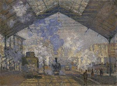 Painting - The Saint Lazare Station by Claude Monet