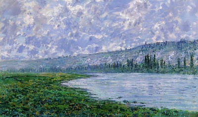 Vetheuil Painting - The Seine At Vetheuil by Claude Monet