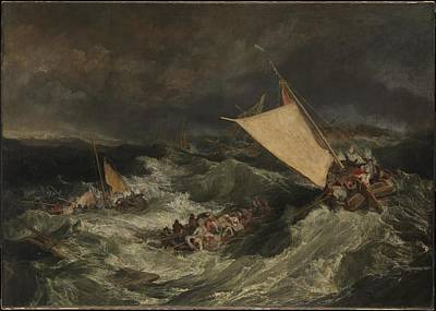 Shipwreck Painting - The Shipwreck Exhibited by Joseph Mallord