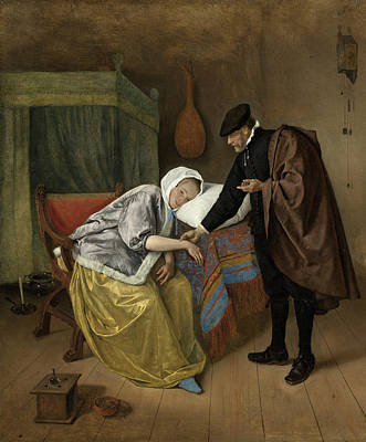 Steen Painting - The Sick Woman by Jan Steen