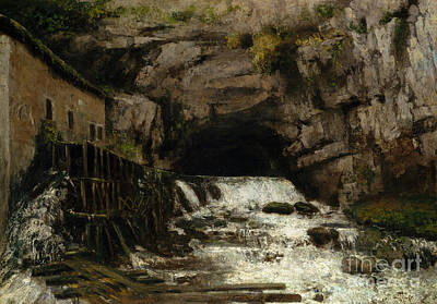 Painting - The Source Of The Loue by Gustave Courbet