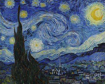 Hill Painting - The Starry Night by Vincent Van Gogh