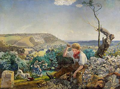 Brett Painting - The Stonebreaker by John Brett