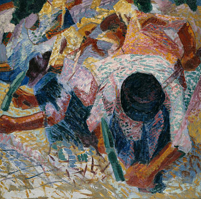 Painting - The Street Pavers by Umberto Boccioni