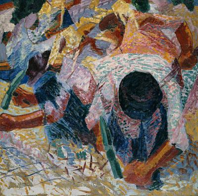 Painting - The Street Pavers by Umberto Boccioni