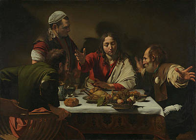 Michelangelo Merisi Da Caravaggio Painting - The Supper At Emmaus by MotionAge Designs
