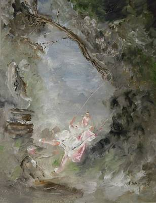 The Swing Art Print by Edward Wolverton
