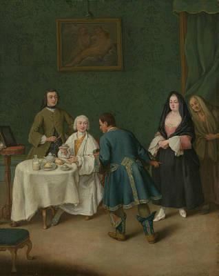 Painting - The Temptation by Treasury Classics Art