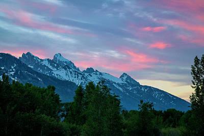 The Teton Mountains Art Print