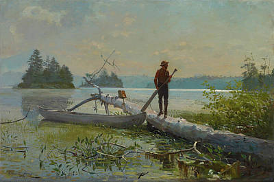 Winslow Homer Painting - The Trapper by Winslow Homer