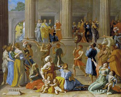 The Triumph Of David Art Print by Nicolas Poussin