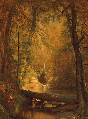 The Trout Pool Art Print by Worthington Whittredge