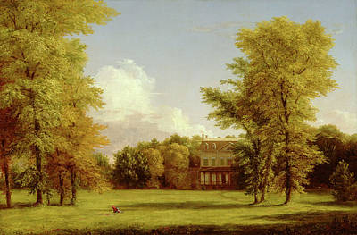 Manor Wall Art - Painting - The Van Rensselaer Manor House by Thomas Cole