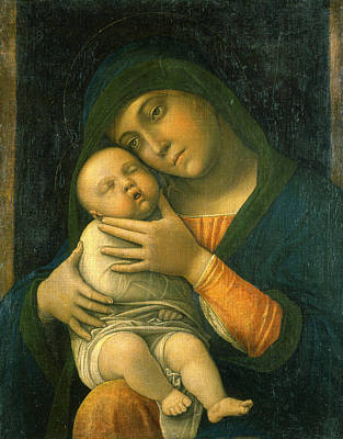 Madonna Painting - The Virgin And Child by Andrea Mantegna