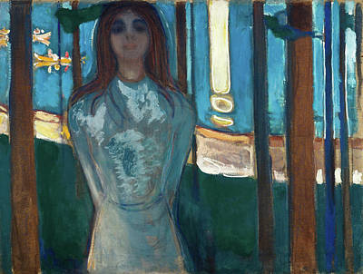 After Munch Painting - The Voice, Summer Night by Edvard Munch