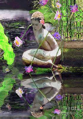 Digital Art - The Water Maiden by Laurel D Rund